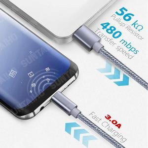 5 шт в упаковке 3A Type C USB кабель для Samsung S20 S10 плюс быстрое зарядное устройство кабель для зарядки для Huawei P40 P30Pro Xiaomi Мобильный телефон USBC кабель Кабели для мобильных телефонов      АлиЭкспресс