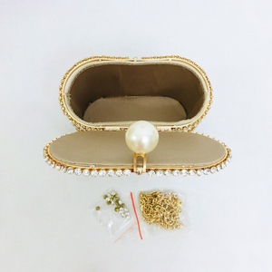 Image 5 - יהלומים סל ערב מצמד שקיות נשים 2019 יוקרה חלול החוצה Preal חרוזים מתכתי כלוב תיקי גבירותיי מסיבת חתונת ארנק