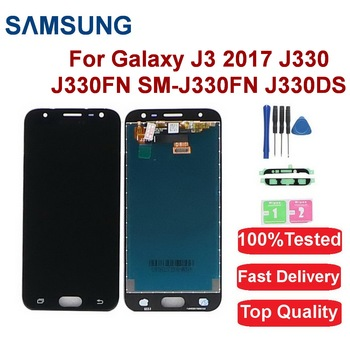 For Samsung Galaxy J3 Pro 2017 LCD Display J330 J330FN SM-J330FN J330DS LCD Display Touch Screen Digitizer Assembly replace amoled lcd sm j320fn f m h ds for samsung j3 2016 j320 j3 2015 j300 lcd display touch screen j320f j320fn j320h j320m j3 lcd