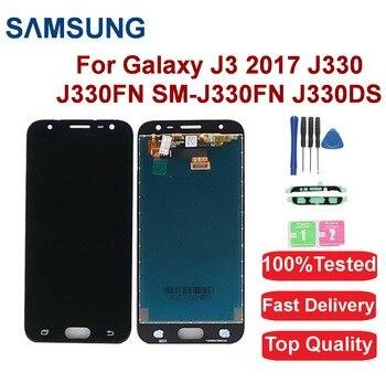 For Samsung Galaxy J3 Pro 2017 LCD Display J330 J330FN SM-J330FN J330DS LCD Display Touch Screen Digitizer Assembly replace аксессуар защитное стекло samsung sm j330 galaxy j3 2017 aksberry