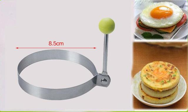 1 pcs Stainless steel form for frying eggs tools omelette mould device egg/pancake ring egg shaped kitchen appliances 4
