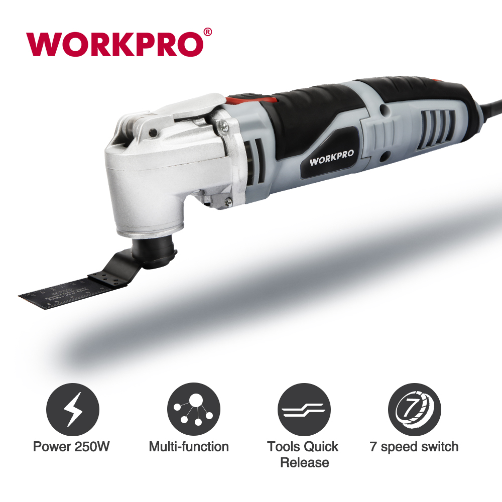 WORKPRO 250W Oscillating Multi-Tool  Electric Trimmer Saw  Home Renovator Tool DIY Woodworking Tool With 40pc Accessory Kit