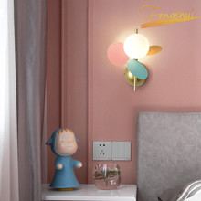 Nordic LED Macaron Wall Lamp Flower Branch Small Lamp Modern Simple Bedside Corridor Background Wall Sconces Bedroom Wall Lamps bokt modern style e27 led wall lamps nordic macaron wall lights for passage corridor bedroom bedside lamp wall sconces ac90 260v