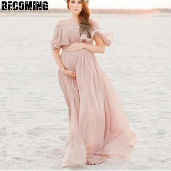 Maternity Dresses For Photo Shoot Chiffon Pregnancy Dress Photography Props Maxi Gown Dresses For Pregnant Women Clothes 2566 s m l xl maternity dress for photo shoot maxi maternity gown split front maternity chiffon gown sexy maternity photography props
