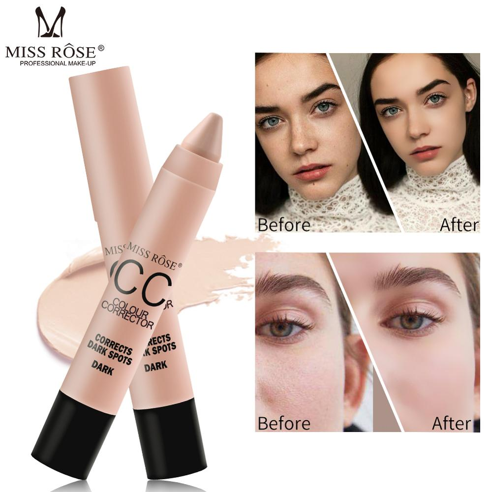 Miss Rose Professional Makeup Colour Corrector Face Concealer Stick Highlighter Stick CC Brighten Skin 4 Colors Face Contour Kit image