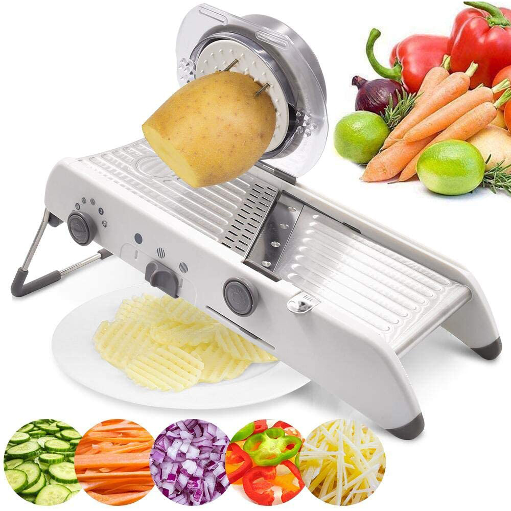Vegetable Kitchen Tool Vegetable Slicer Manual Vegetable Cutter Professional Grater With Adjustable 304 Stainless Steel Blades