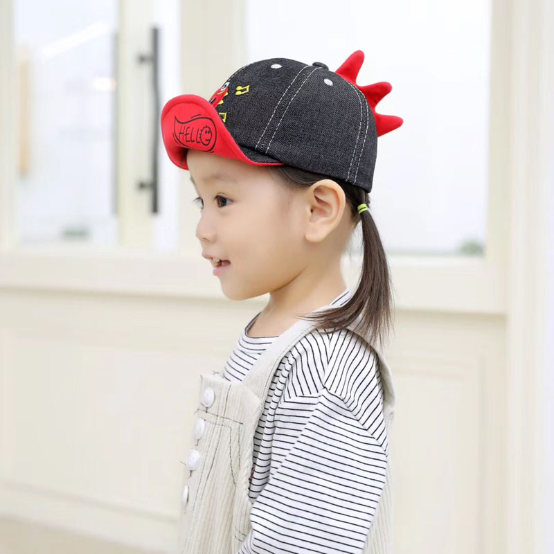 H52eb38cdb9234780b1e52957900de9a6L - Spring Autumn Baby Baseball Cap Cartoon Dinosaur Baby Boys Caps Fashion Toddler Infant Hat Children Kids Baseball Cap