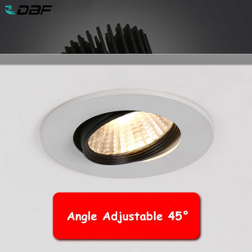 DBF]2020 Góc Điều Chỉnh LED COB Đèn Điểm Đèn Âm Trần 5W 9W 12W  3000K/4000K/6000K Đèn Led Downlight Âm Trần AC110/220V|