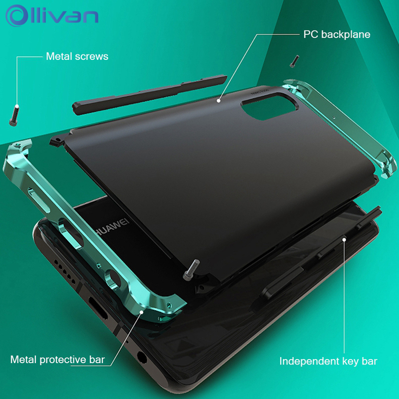 Metal Frame Case For XiaoMi RedMi Note 7 6 5 Pro 8 Luxury Aluminum + PC Heavy Duty Case Cover XioMi RedMi Note 7 ShockProof Case