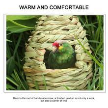 Nest Decoration Bird-House Straw-Bird Gardening Creative Gourd Hibiscus-Grass Hand-Knitted