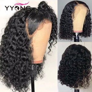 Image 3 - 1x6 T Part & 13x4 Lace Front Human Hair Wigs Brazilian Deep Wave Human Hair Short Bob Wig With Pre Plucked Hairline 120% Wig