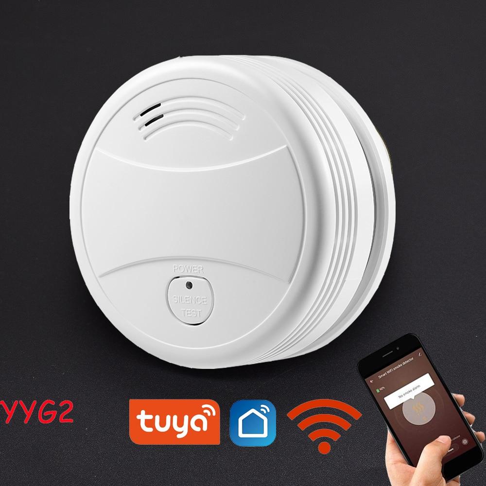 Новый Граффити WiFi детектор дыма пожарная сигнализация устройство защиты, система безопасности дымовой сигнализации