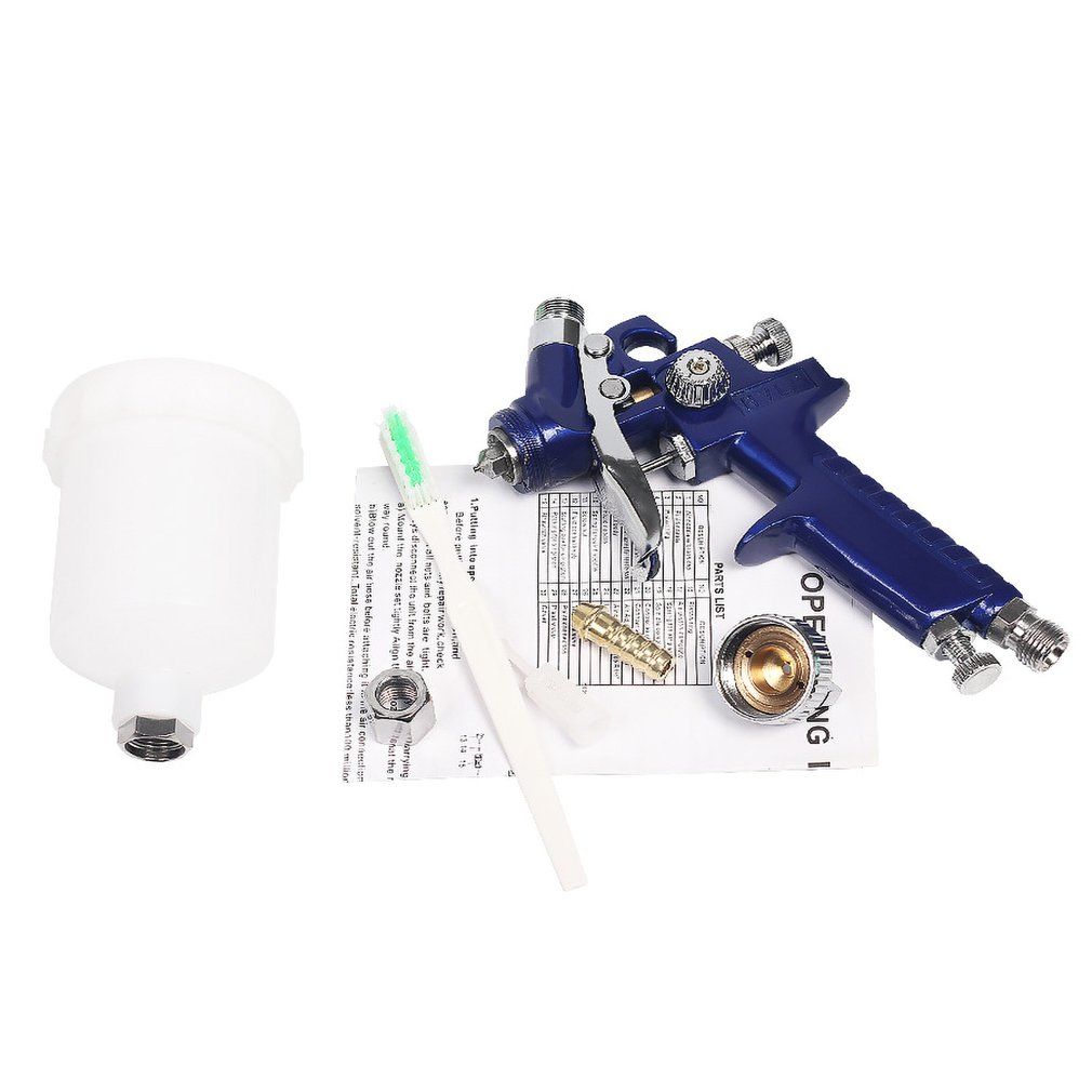 0.8mm/1mm Nozzle Air Spray Gun Mini Airbrush For Wall Car Tattoo Manicure Painting Compressor 150ml Cup Decorating Paint
