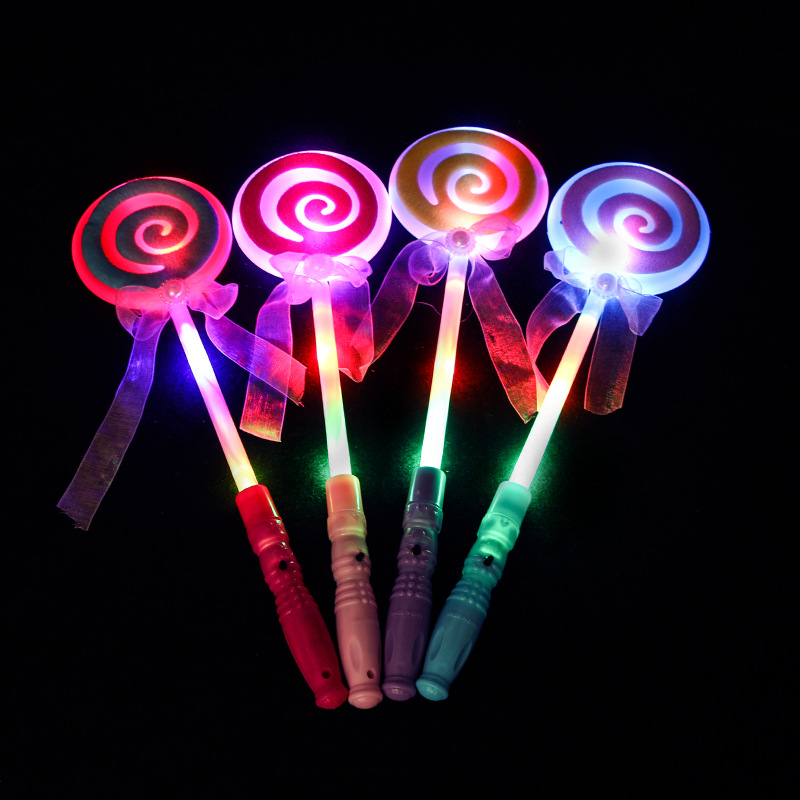 Magic Wand Luminescence Flash Lollypop Shape Wand With Light Night Toys