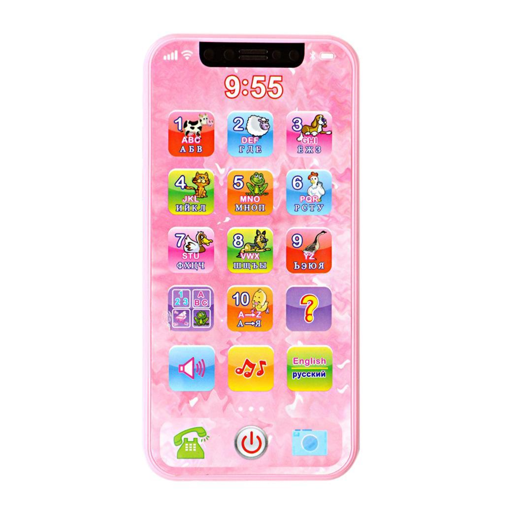 New Kids Children Game Multi Language Mobile Phone Toys Pink, Blue Over 3 Years Old Early Education