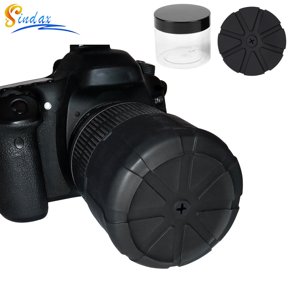 The Universal Lens Cap for DLSR Camera lens Waterproof Lens Cover Protector Camera Cover for Canon Nikon Sony Olypums Fuji Lumix image