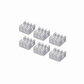 цена на 40 Pieces LOT Mini 6.4mm x 6mm x 3.7m Aluminum Heatsink For MOS IC Chipset Chip Radiator