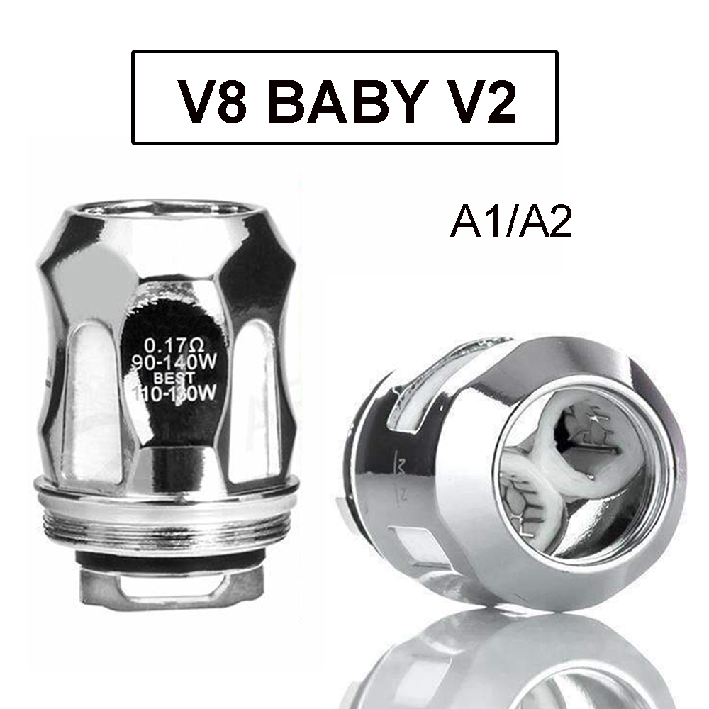 Vmiss 3pcs/box V8 Baby V2 Atomizer Coil E Cigarette 0.17ohm 0.2ohm A1 A2 Coils Head for Stick V9 Mag Grip Vape Mod Kit