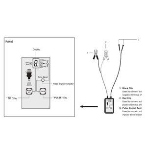 Image 5 - 1 סט רכב דלק Injector בודק EM276 דלק מערכת סריקת כלי מזרק מנתח רכב אוטומטי אבחון תיקון כלים עם 4 מצבי דופק