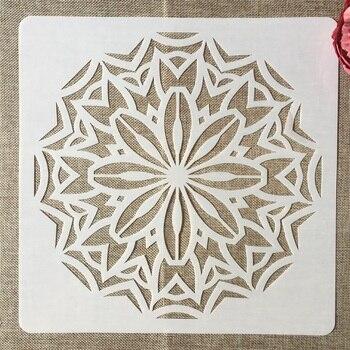 Plantilla para pintura DIY de 30*30cm Mandala geometría redonda plantilla para libro de recortes colorear plantilla decorativa para álbum en relieve