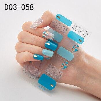 14pcs/sheet Glitter Gradient Color Nail Stickers Nail Wraps Full Cover Nail Polish Sticker DIY Self-Adhesive Nail Art Decoration 9