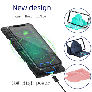 Image 3 - 15W Silicone Wireless Car Charger Pad Foldable Fast Charging Base Station Non Slip Phone Stand Holder for iPhone X XS 11 Huawei