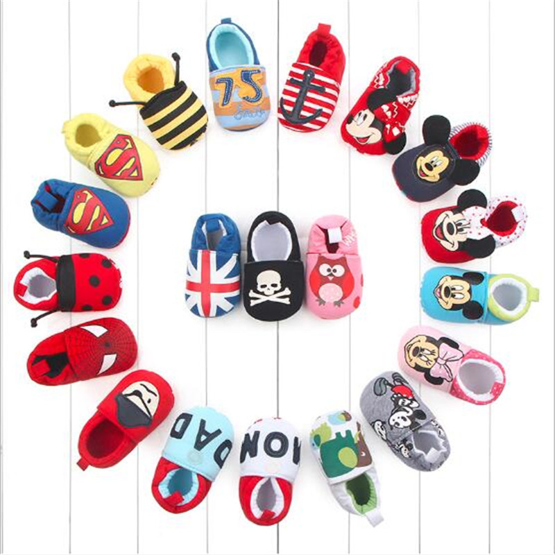 Lovely Cartoon Baby Shoes Infants Soft First Walkers Cute Newborn Crib Shoes Footwear Boys Girls Shoes