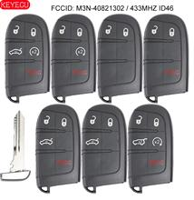 KEYECU 433MHz ID46 Chip Ersatz Smart Remote Key Fob 5 Buttonfor Chrysler 300 Dodge 2011 2018 FCC: m3N 40821302