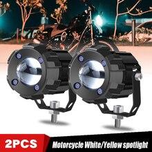 1 Pair Motorcycle LED Headlight Worklight Spotlight Fog Light High Beam Super White 30W 3000LM For Yamaha Honda SUVs Motor