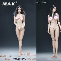 In Stock VERYCOOL FX04A/FX04B 1/6 Asian Female Head Carving + VC 3.0 Body Sets with Soft Breast Body Straight/Wavy Hair Model