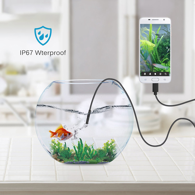 Endoscope USB Android mini camerCamera 6LED Waterproof Inspection Borescope Flexible Camera 5.5mm7mm for PC Notebook spy gadgets 6