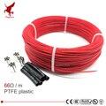 66ohm многоцелевой 6k PTFE углеродное волокно нагревательный кабель 5 V-220 V теплый пол высокое качество инфракрасный нагревательный провод теплы...