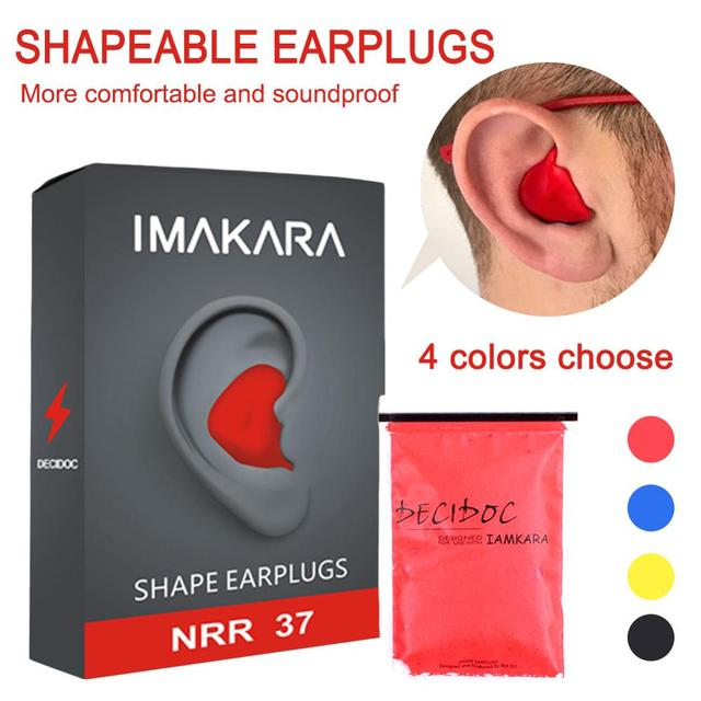Moldable Shaped 60pcs/set PU Anti noise Ear Plugs Noise Reduction Sleeping Guard Soft Anti Snoring Health Care Sleep Aid Earplug