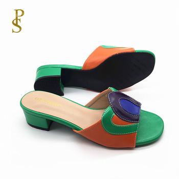 Modne damskie klapki damskie klapki damskie Nigeria kolorowe buty damskie tanie i dobre opinie FABIO PENNY CN (pochodzenie) Kapcie Niska (1 cm-3 cm) Pasuje prawda na wymiar weź swój normalny rozmiar 4022-254 Podstawowe
