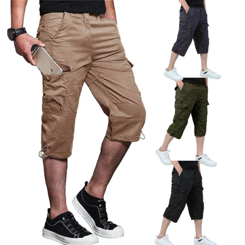 Mens Summer Shorts Gym Sport Laufen Workout Cargo Pants Jogger Hose