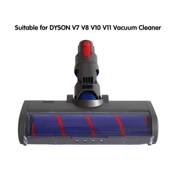 Absolute Fluffy Soft Roller Head Quick Release Electric Floor Head For Dyson V7 V8 V10 V11 Vacuum Cleaner Repair Parts