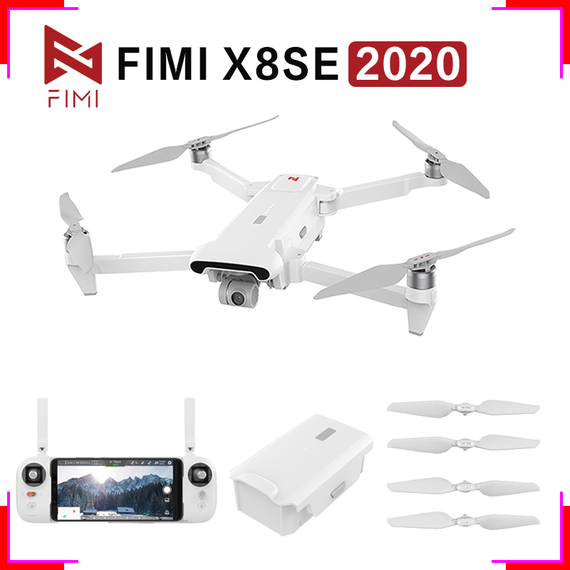 FIMI X8 SE 2020 3-Axies 4K H.265 HDR 35mins Flight Time 8KM Remote Control RC Camera Drones Wholesales