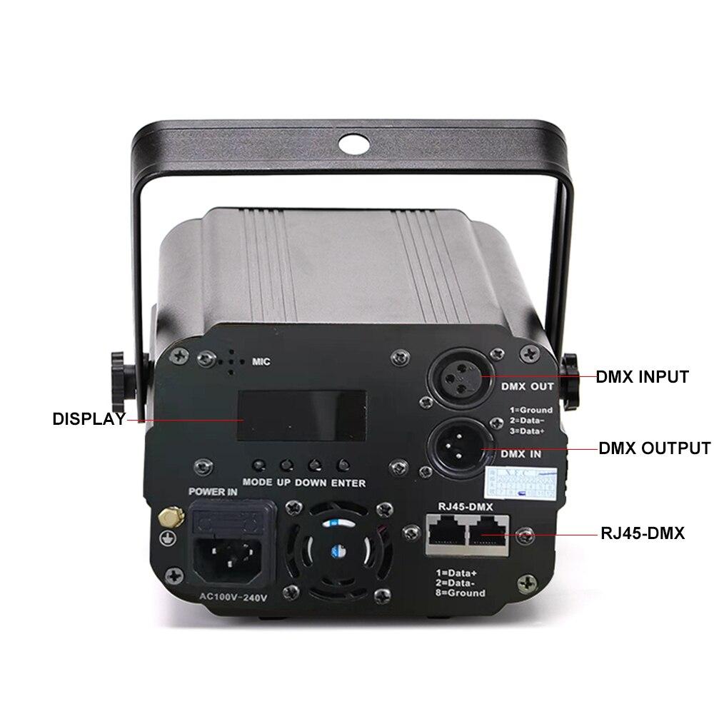 3D лазерный светильник RGB цветные DMX 512 сканер проектор вечерние Рождество DJ диско шоу светильник s клуб музыкальное оборудование луч движущийся луч сценический - 2