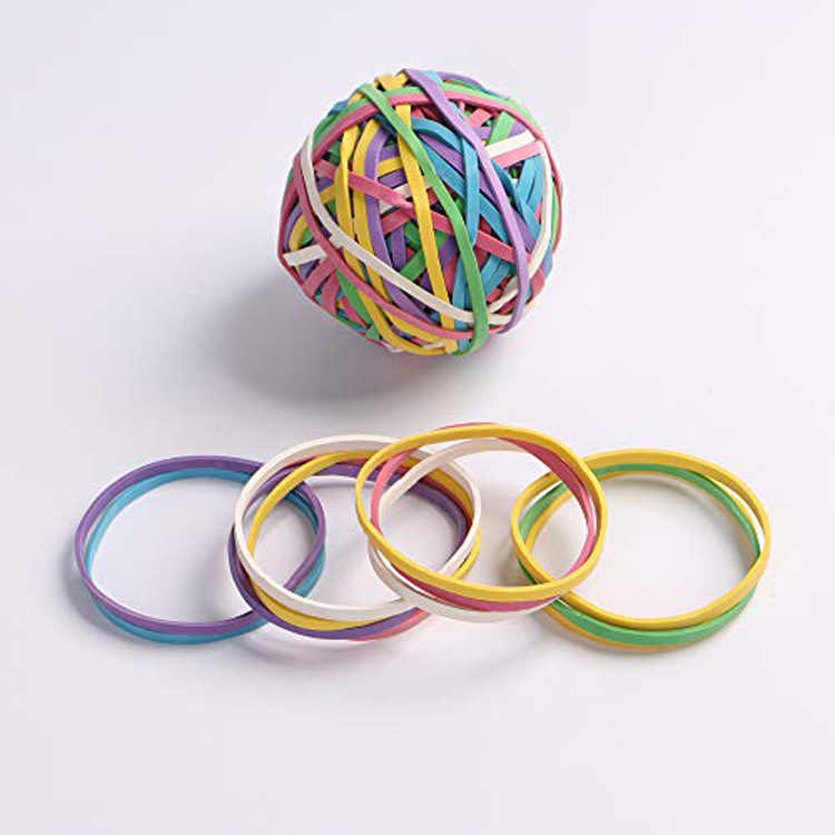 Lot of 420Pcs Multi Purpose Rubber Bands For Office School Home Yellow Color