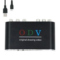 ODV für Ossc alternative Composite RCA für S-Video für YPbPr Konsole zu für HDMI Retro Gaming Konverter 480p 576p