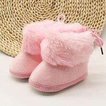 Ботиночки для новорожденных девочек; сезон осень-зима; обувь для малышей; теплые ботинки для малышей; удобные хлопковые ботиночки