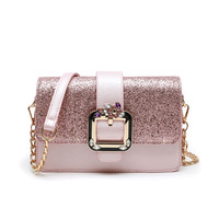 Fashion Pink Chains Women's Designer Handbags High Quality PU Leather Women Totes Messenger Bags Ladies Shoulder Crossbody Bag