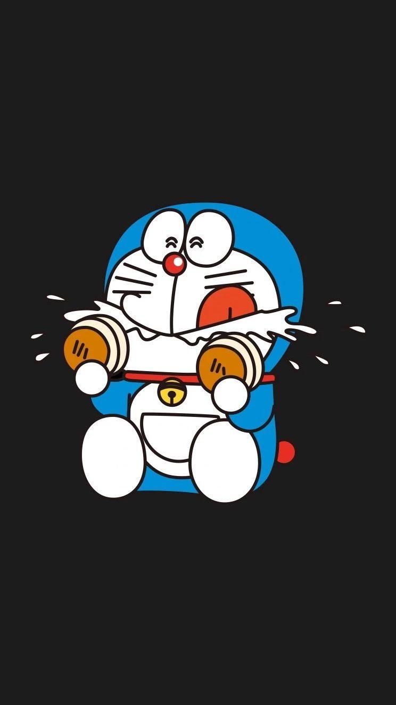 哆啦A梦壁纸:可爱哆啦A梦蓝胖子手机壁纸插图9