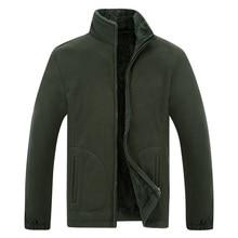 Зимняя мужская куртка из мягкого флиса, теплая армейская Зеленая Мужская ветровка, черная, плюс размер XL~ 6XL 7XL 8XL, мужская куртка