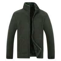 2019 hiver veste hommes softshell polaire chaud armée vert hommes coupe-vent noir grande taille XL ~ 6XL 7XL 8XL manteaux homme