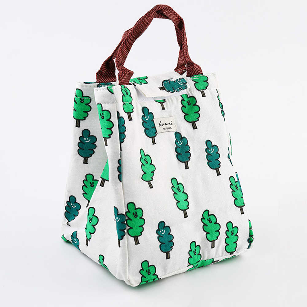 1 Pza bolsa de almuerzo térmica Oxford impermeable conveniente al aire libre bolsa de almacenamiento de Picnic bolsa de papel de aluminio grueso bolsas de Almuerzo