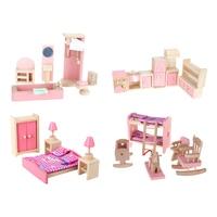 4 Set Dollhouse Furniture Kid Toy Bathroom Set Bathroom Kid Room Bedroom Kitchen