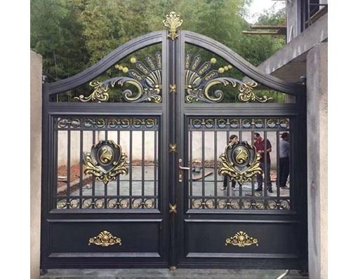 Outdoor Design Aluminum Automatic Temple Main Gate Grill Color With Remote Control Design In Sri Lanka