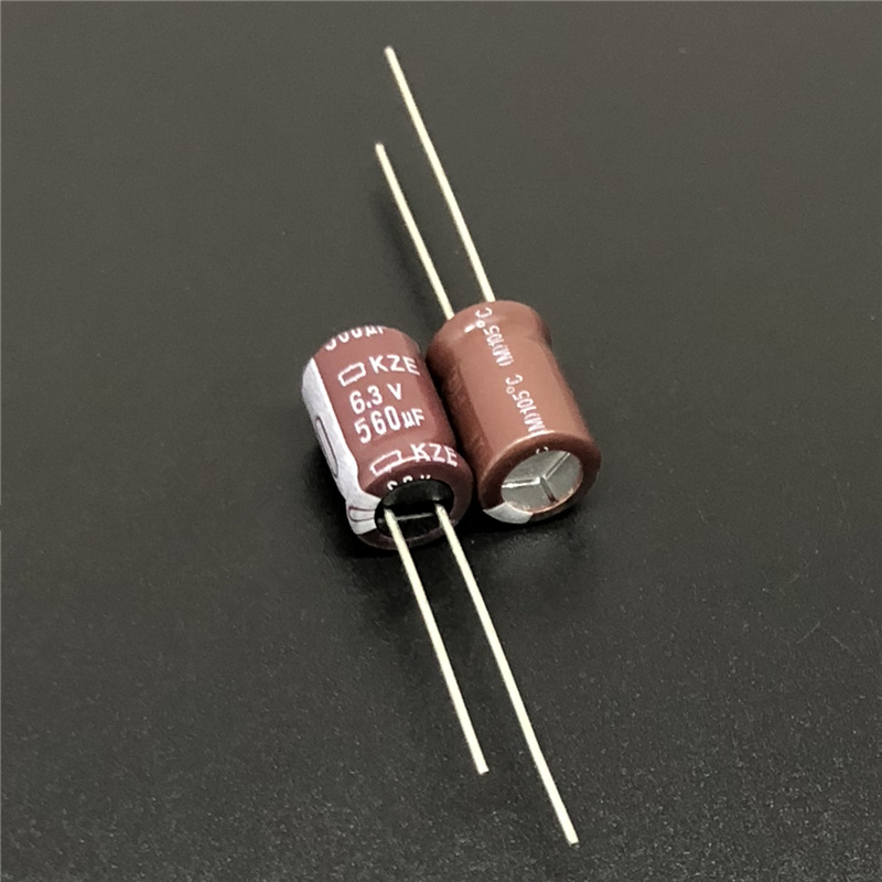 10pcs 560uF 6.3V NIPPON KZE Series 8x11.5mm Low Impedance 6.3V560uF Aluminum Electrolytic Capacitor