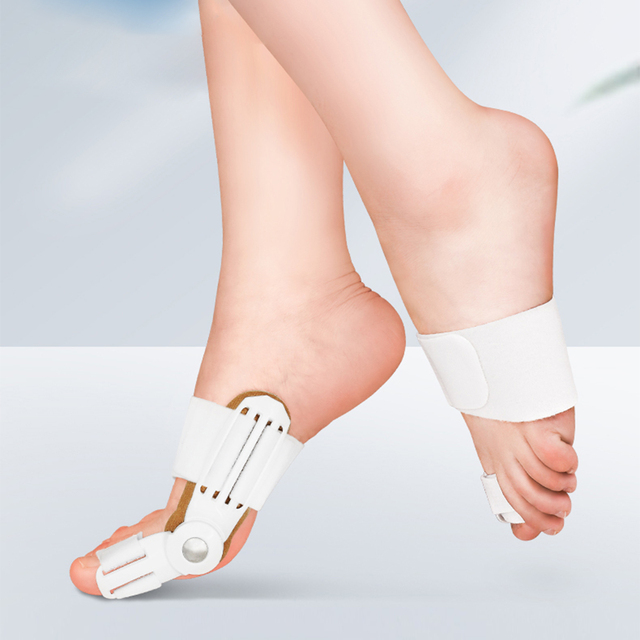 USA 2Pcs Toe Protector Feet Care Pedicure Tool Bunion Hallux Valgus Corrector Orthopedic Supplies Big Toe Splint Straightener 3
